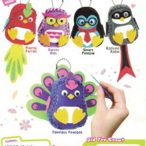 Felt Birdie Keychain Kit 1