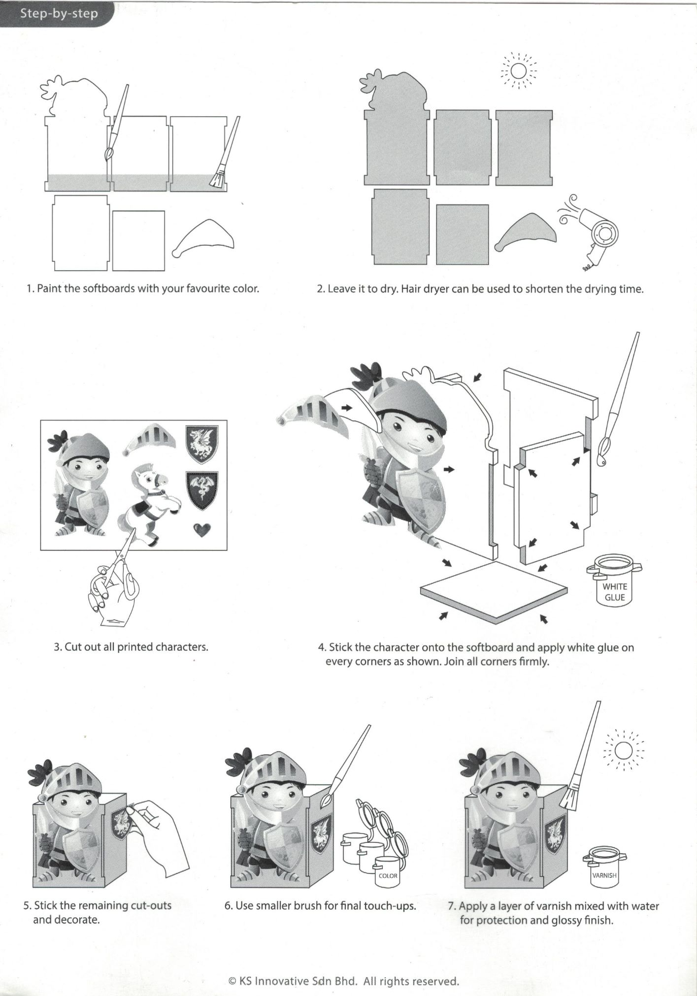 Knight Pen Holder Instructions