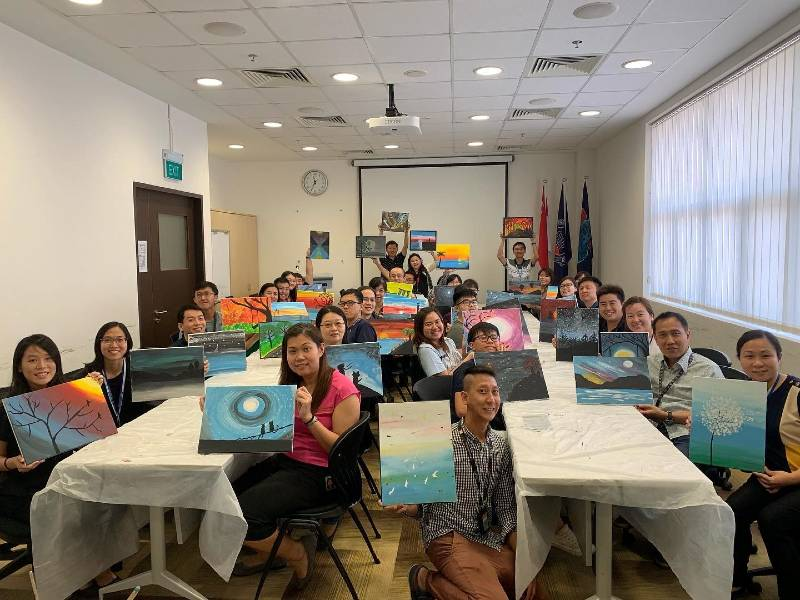 Group Canvas Painting Workshops Singapore