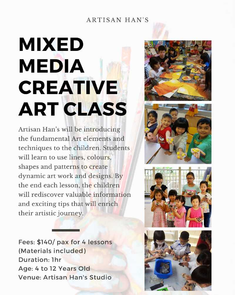 Mixed Media Creative Art Class Singapore