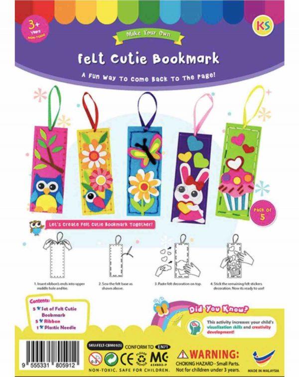 Felt cutie bookmark 1