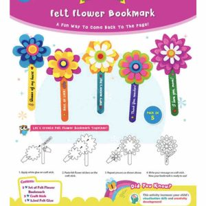 Felt flower bookmark 01