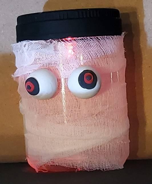 Mummy wrap with LED